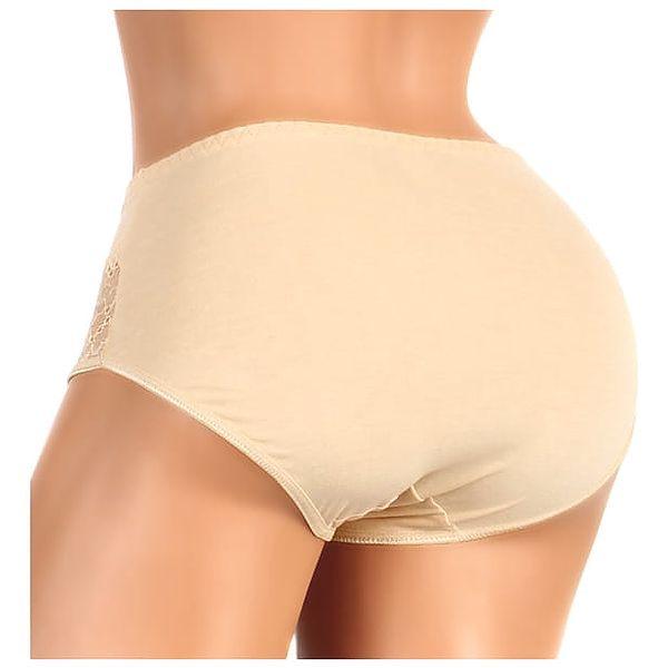 Bavlněné kalhotky s krajkou - vysoký pas i pro plnoštíhlé tělová3
