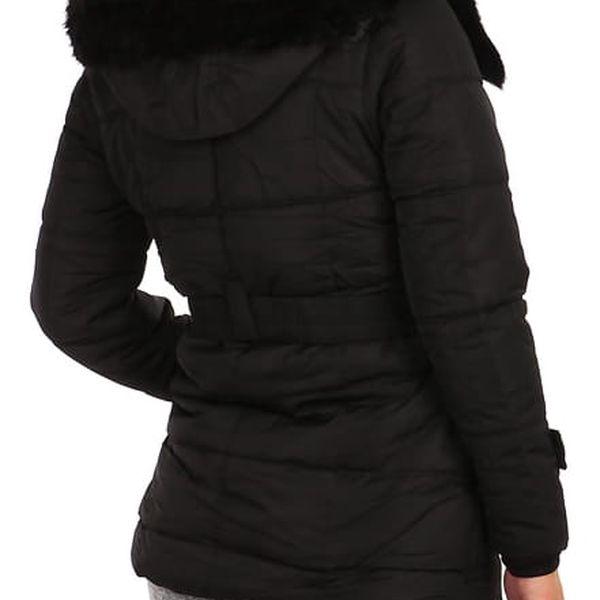 Dámská zimní bunda - i pro plnoštíhlé černá3