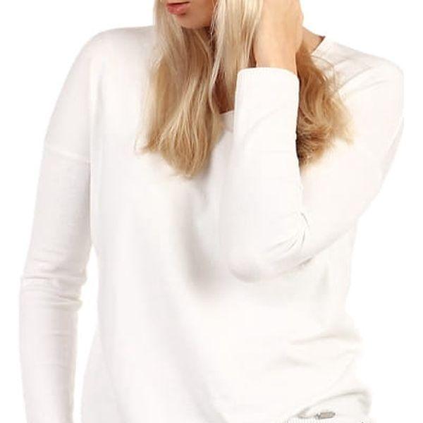 Dámská pletená čepice bílá3
