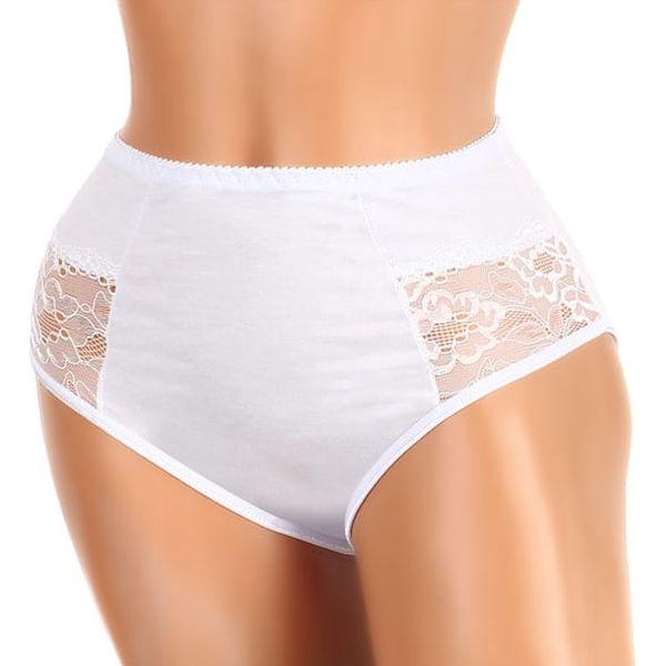 Bavlněné kalhotky s krajkou - vysoký pas i pro plnoštíhlé tělová4