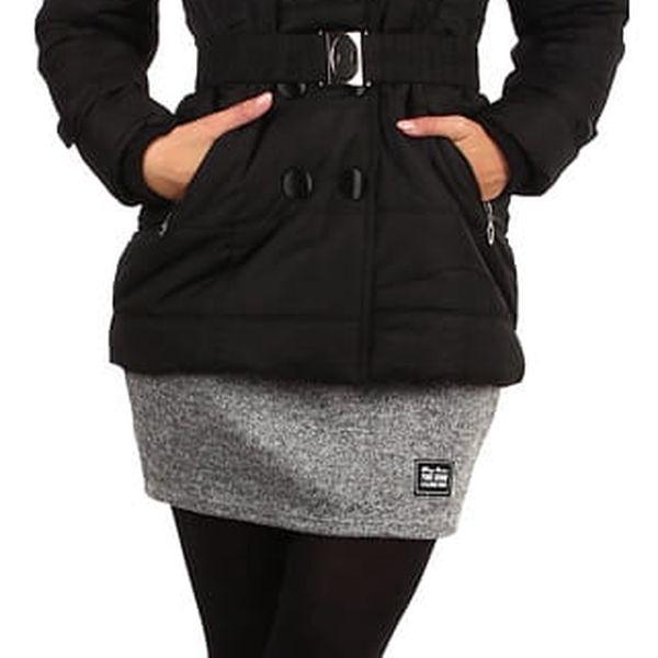 Dámská zimní bunda - i pro plnoštíhlé černá4
