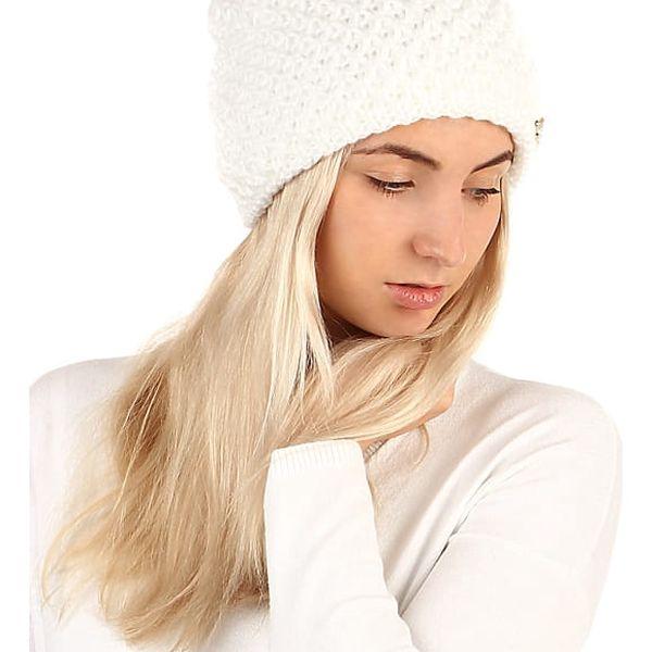 Dámská pletená čepice bílá4