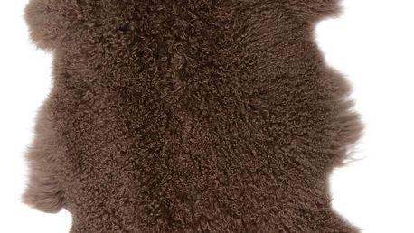 IB LAURSEN Tibetská ovčí kožešina Brown, hnědá barva, kožešina Hnědá
