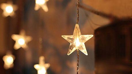 STAR TRADING Světelný řetěz-závěs s hvězdičkami, čirá barva, plast