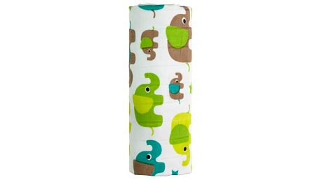 T-TOMI Bambusová osuška, 1 ks, zelení sloni