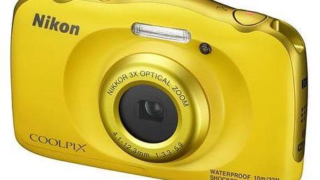 Digitální fotoaparát Nikon Coolpix W100 BACKPACK KIT (VQA013K001) žlutý + Doprava zdarma