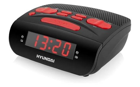 Radiobudík Hyundai RAC518PLLBR černý/červený