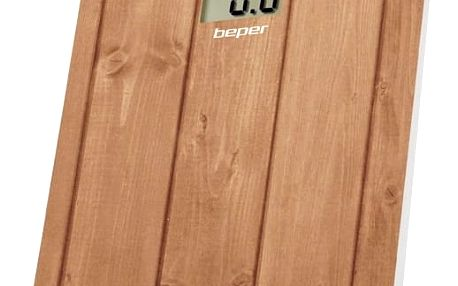 Beper 40810 Digitální skleněná osobní váha, hnědá