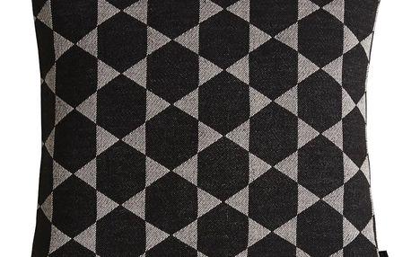 OYOY Bavlněný polštář Fluffy Black, černá barva, textil