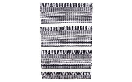 House Doctor Kobereček Black&White Inka 60 x 90 cm, černá barva, bílá barva, plast