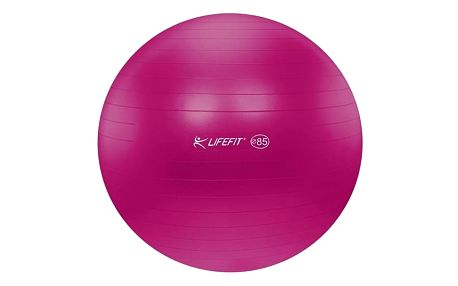 Gymnastický míč LIFEFIT ANTI-BURST 85 cm bordó