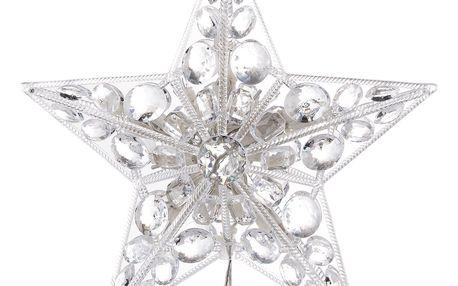 Vánoční hvězda do okna Diamant, 20 žárovek, 30 x 30 x 7 cm