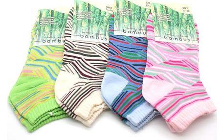 Dámské bambusové kotníkové ponožky 3 páry!