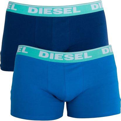 2PACK Pánské Boxerky Diesel Trunk Fresh&Bright Light Blue Dark Blue M