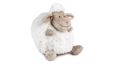 BO-MA Trading Polštářek Ovečka koule bílá, 25 cm