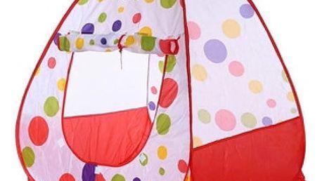 Samorozkládací dětský stan s puntíky 95 x 95 x 92 cm