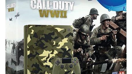 Herní konzole Sony SLIM 1TB + Call of Duty WW II + That's You - kamufláž (PS719943167) + DOPRAVA ZDARMA