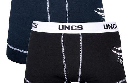 2PACK pánské boxerky UNCS modré černé S