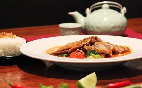 Voňavé kachní menu pro 2 v asijské restauraci