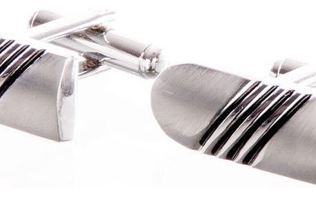 Manžetové knoflíky náboj z chirurgické oceli, rhodiované