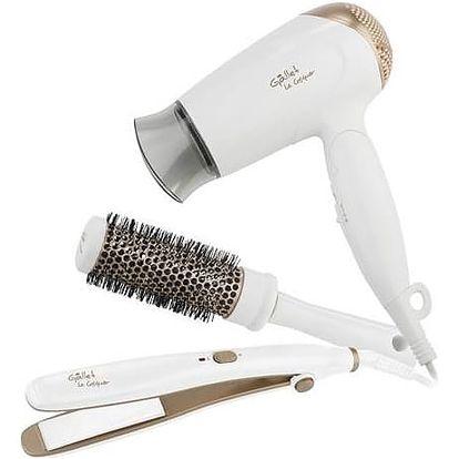 Dárková sada péče o vlasy Gallet Versailles dárková sada s žehličkou a kartáčem SEC 816 IW + Doprava zdarma