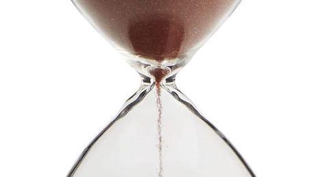 MADAM STOLTZ Přesýpací hodiny Paprika 15 min, červená barva, oranžová barva, čirá barva, sklo