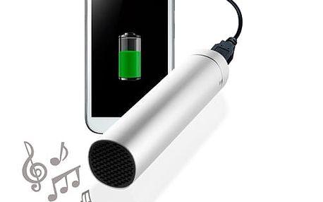 CuboQ Powerbank s Reproduktorem 3500 mAh