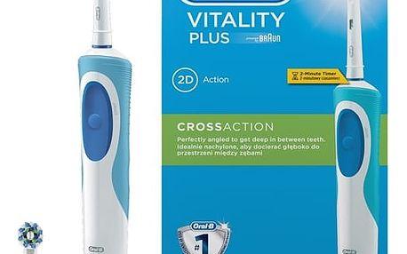 Zubní kartáček Oral-B Vitality Plus Cross action bílý
