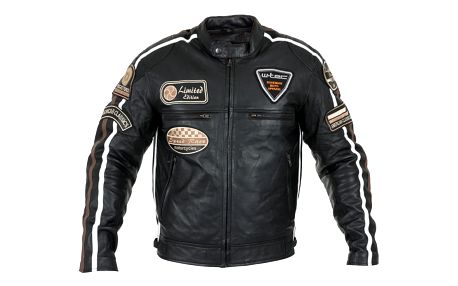 Pánská kožená moto bunda W-TEC Sheawen Barva černá, Velikost L