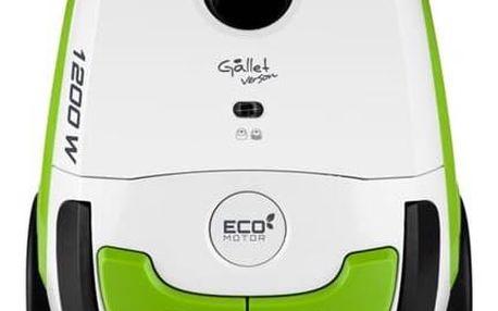 Vysavač podlahový Gallet ASP 300 bílá barva/zelená barva + Doprava zdarma