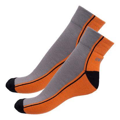 Ponožky Infantia streetline oranžovo šedé