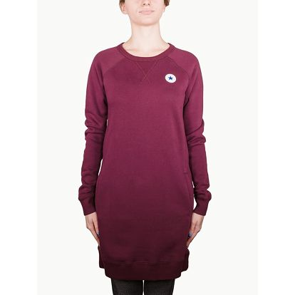 Šaty Converse Core Sweatshirt Dress Červená