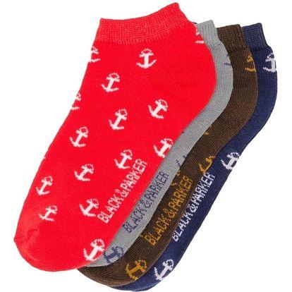 Sada 4 párů kotníkových unisex ponožek Black&Parker London Gibson,velikost37/43