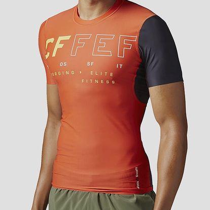 Kompresní tričko Reebok RCF SS COMPRESSION TOP Oranžová