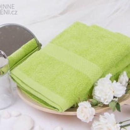 XPOSE ® Froté ručník VERONA - zelená 50x90 cm
