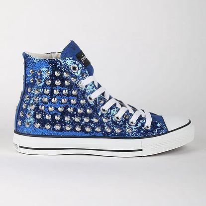 Boty Primadonna Calzatura Sneakers Glitter Blue Modrá