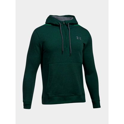 Mikina Under Armour Threadborne 1/2 Zip Hoodie Zelená