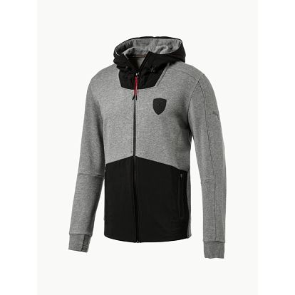 Mikina Puma Ferrari Hooded Sweat Jacket Šedá