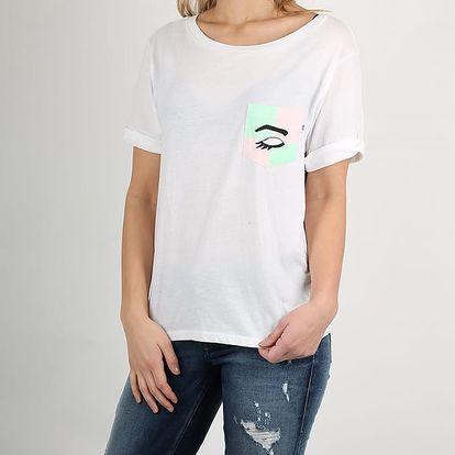 Tričko Vans Wm Mod Eye Pocket Te White Bílá