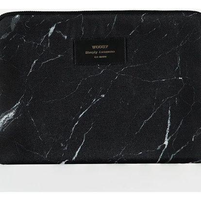 Woouf! Obal na iPad Black Marble, černá barva, textil