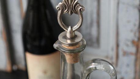 Chic Antique Vinná zátka French decor, stříbrná barva, kov, korek