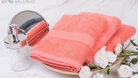 XPOSE ® Froté ručník VERONA - korálová 50x90 cm
