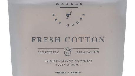 Makers of Wax Goods Vonná svíčka ve skle Fresh Cotton 464g, bílá barva, sklo, vosk (slevový kód JEZISEK24 na -24 %)