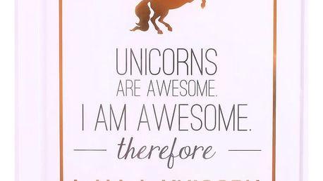 La finesse Obrázek v rámu Unicorns 35x28 cm, bílá barva, dřevo, plast