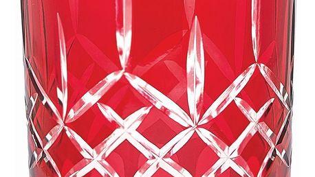 GREEN GATE Skleněný svícen Judy red - menší, červená barva, sklo