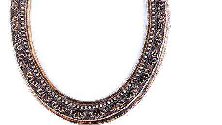 Chic Antique Fotorámeček Antik gold oval, zlatá barva, dřevo