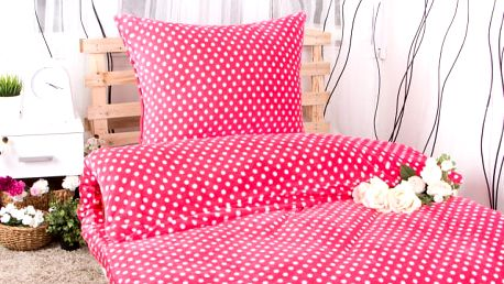 XPOSE ® Povlečení mikroplyš MARKÉTA - růžová 140x200, 70x90