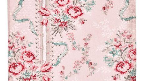 GREEN GATE Utěrka Betty pale pink, růžová barva, textil