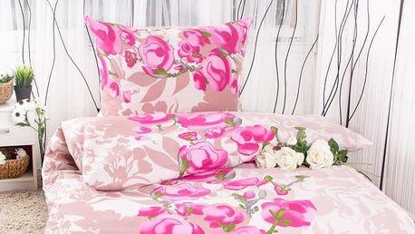 XPOSE ® Bavlněné povlečení na dvě lůžka VANESA - lila 140x200, 70x90