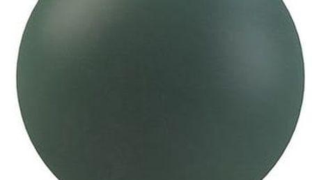 COOEE Design Kulatá váza Ball Dark Green 10 cm, zelená barva, keramika